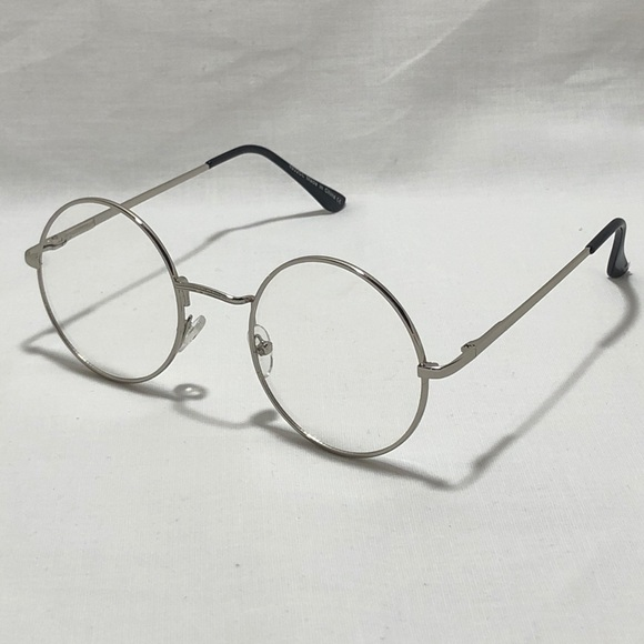 7a5588a156bb9 Small Silver Clear Lens Circle Glasses